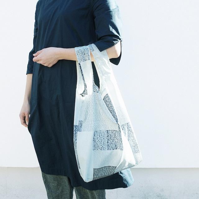 《新聞掲載》【akari】エコバッグ 折りたたみ ◎ご自宅でお洗濯も◎買いものバッグ コンパクト パッチワーク モノトーン