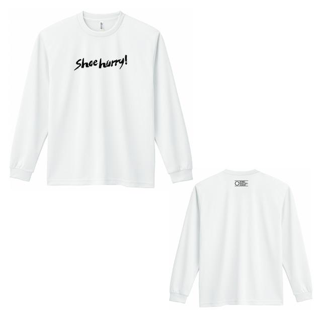 SHOEHURRY! DRY LONG T-SHIRTS|ドライロングTシャツ(ホワイト/ブラック)