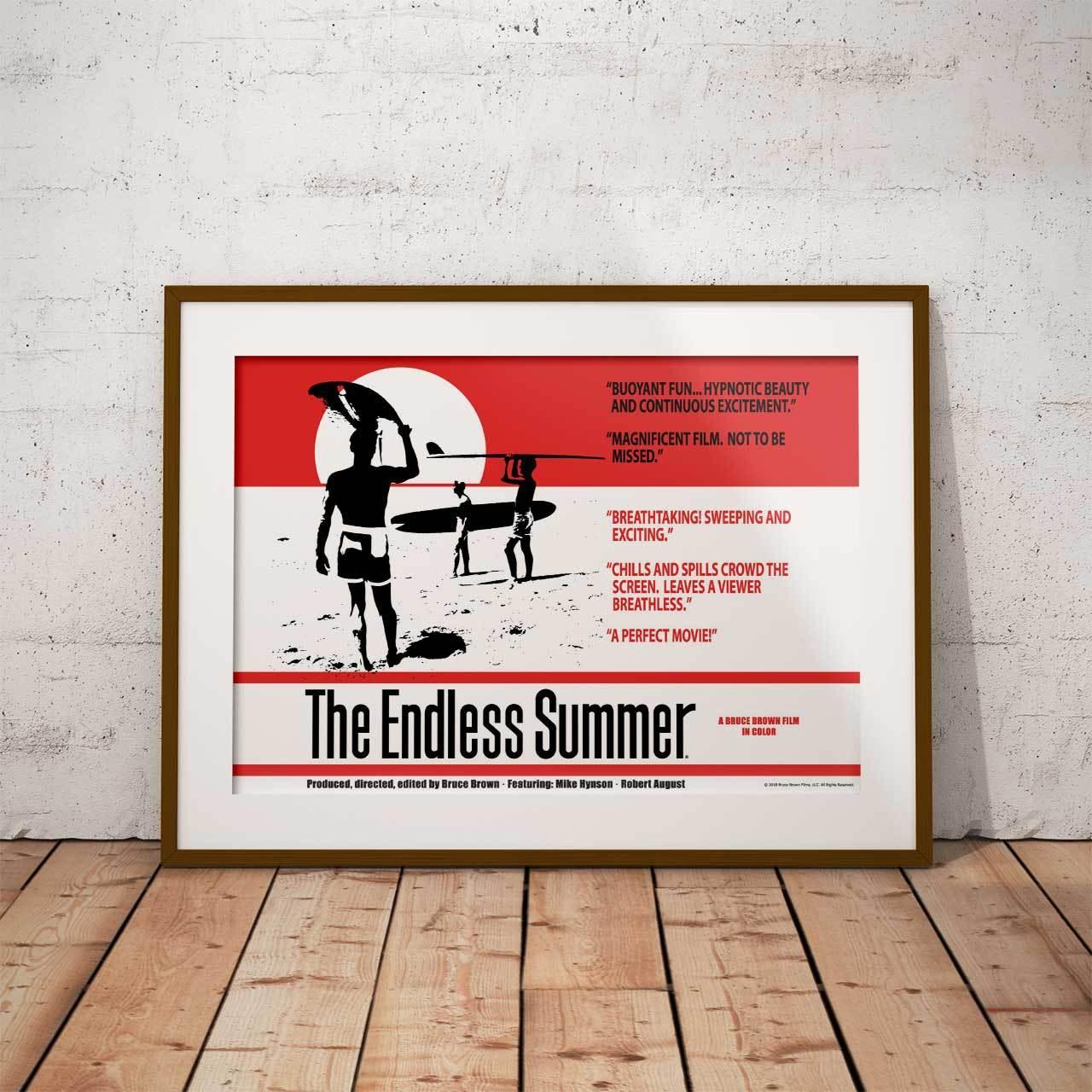 サーフィン映画A3ポスター・The Endless Summer (エンドレスサマー)・レッド