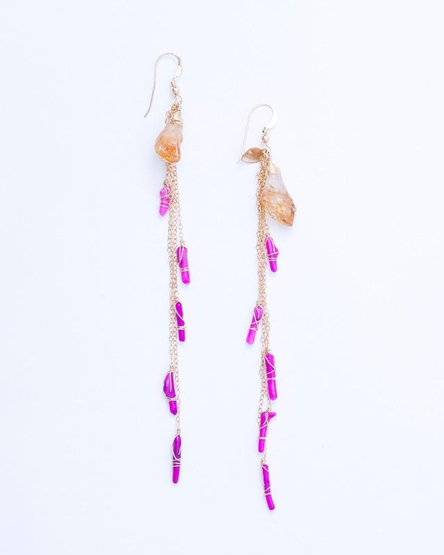 Albarracin / Citrine-Red Purple coral