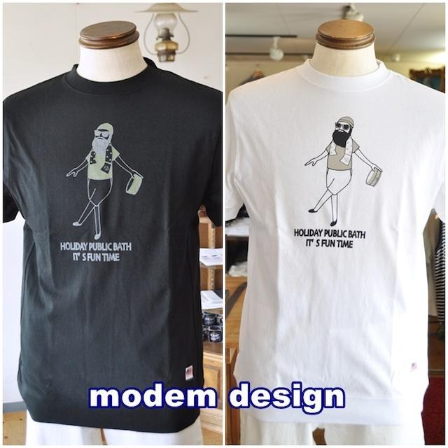 MODEMDESIGN モデムデザイン 半袖スウェットタイプTシャツ 半袖Tシャツ カットソー M2009057