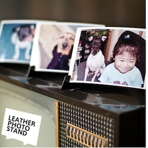 LEATHER PHOTO STAND