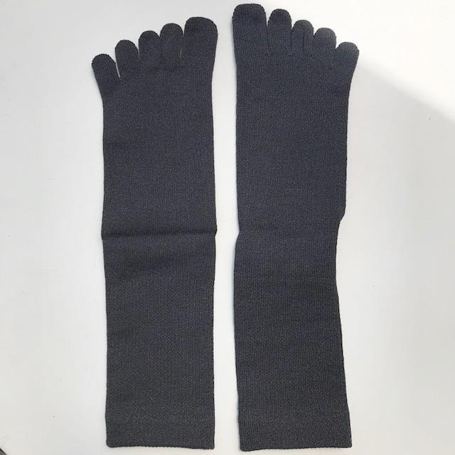 【sasawashi(ささ和紙)】メンズ5本指靴下 チャコールグレー