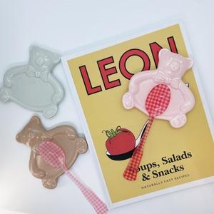 vintage retro bear mini plate 5colors / ヴィンテージ レトロ ベア ミニ プレート 皿 箸置き テディーベア トレー 韓国雑貨
