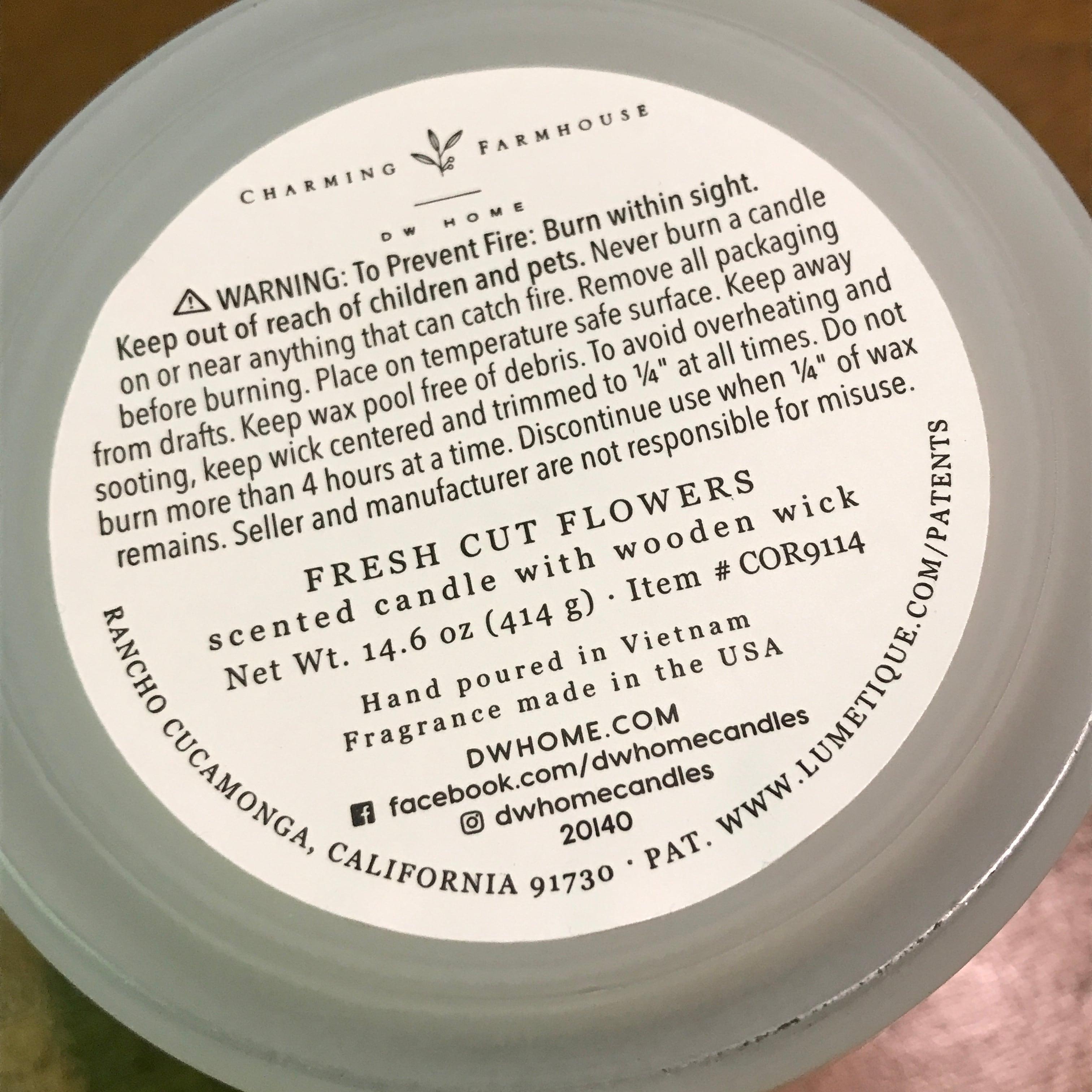 【DW Home Candles】FRESH CUT FLOWERS【アロマキャンドル】