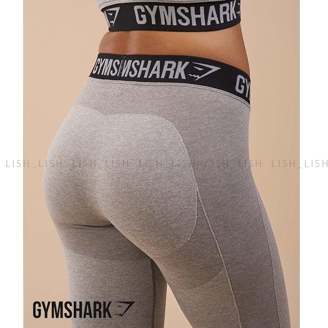 GYM SHARK カラーレギンス FLEX LEGGINGS LIGHT GREY MARLBLACK