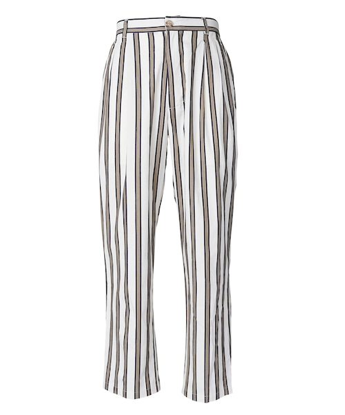 MULTI COLOR STRIPE COTTON WIDE PANTS [REP140]