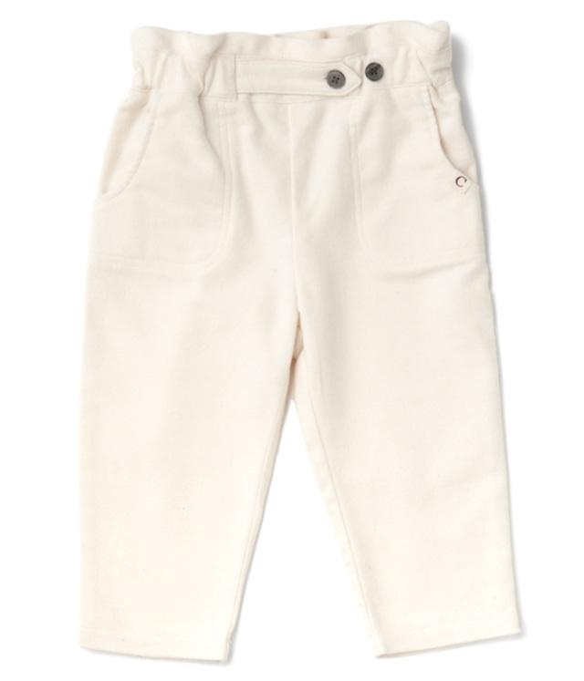 【ベビー服】フリルギャザーパンツ / オフ / 70~90サイズ