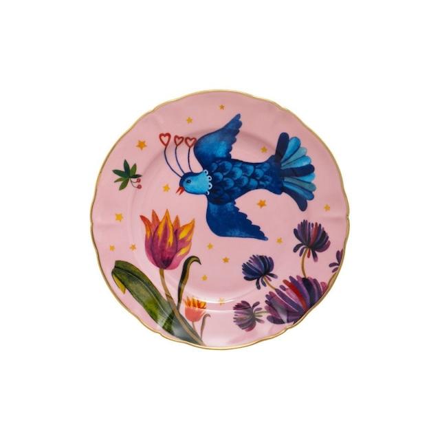 BITOSSI HOME - Plate - LITTLE BIRD PINK