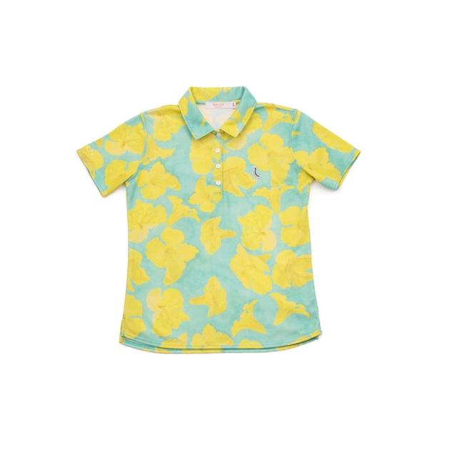 【 LADIES 】サンゴクロス ポロシャツ 【Tee-chi x taion 2021 】(ipee)