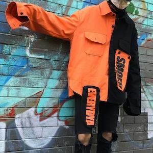 【トップス】カジュアル長袖スクエアネックシングルブレスト配色ジャケット25968511