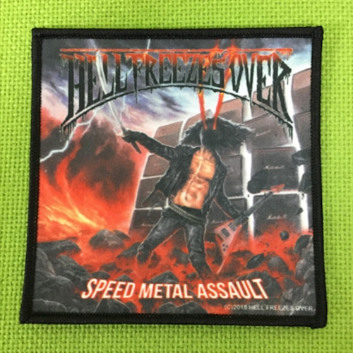"""HELL FREEZES OVER """"Speed Metal Assault"""" プリントパッチ"""