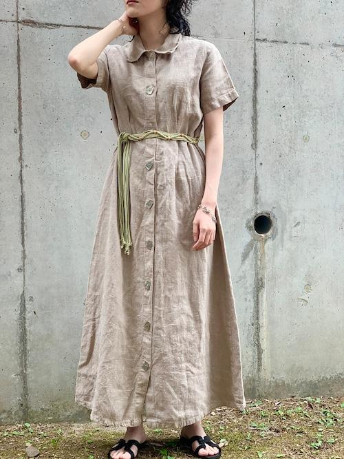 Vintage Linen Shirt Dress Made In USA
