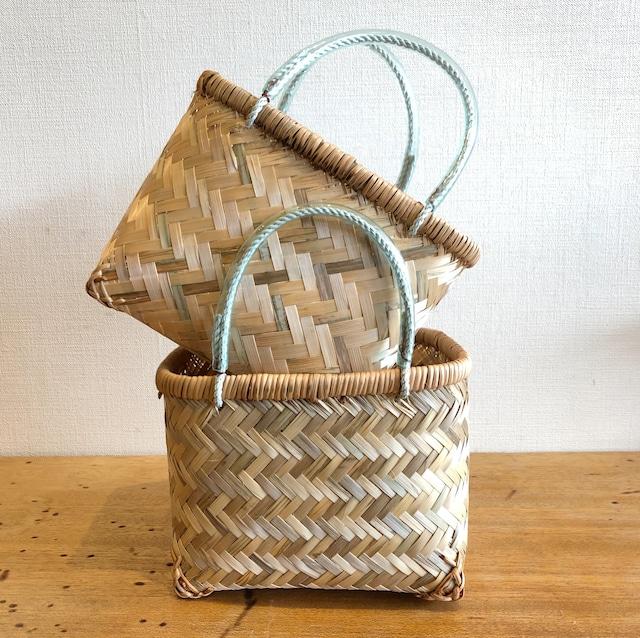竹編み市場かご(S)