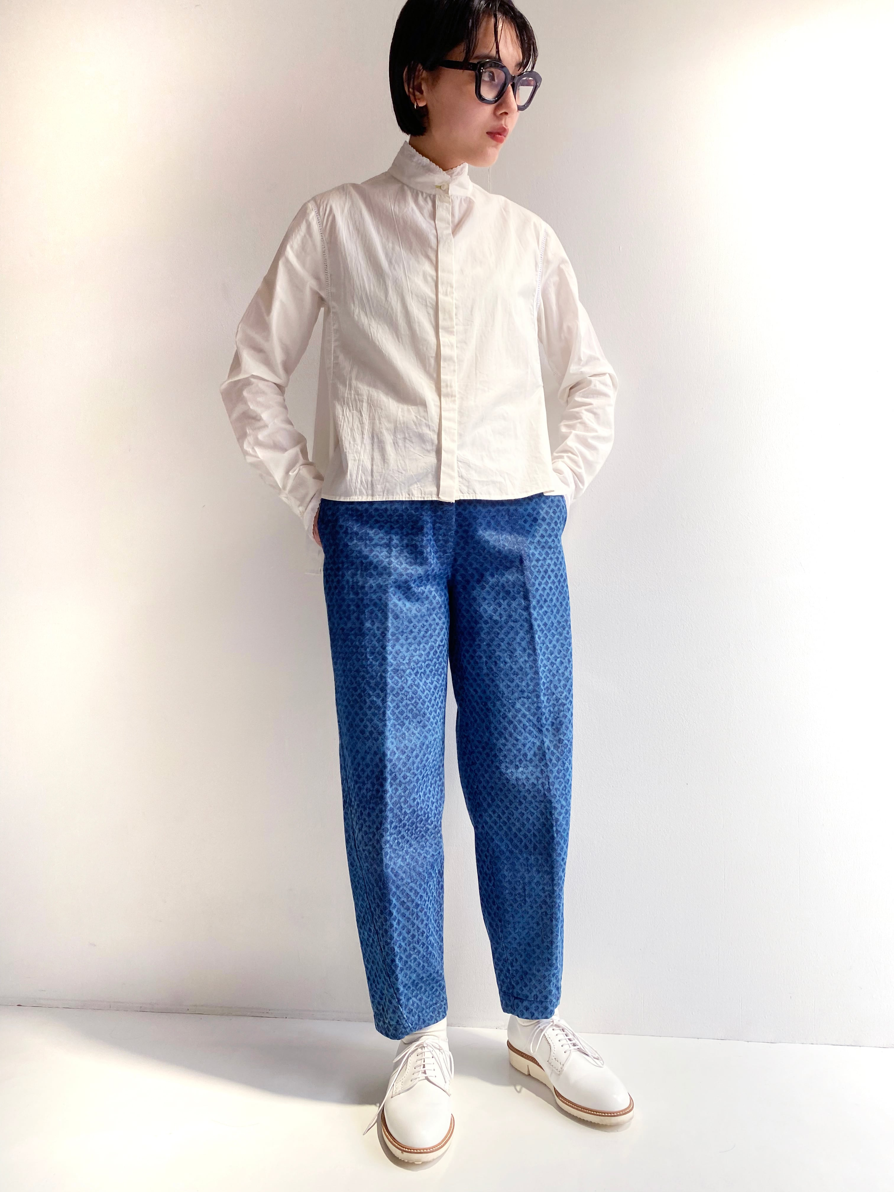 "Side slit blouse ""Natural white"" organic cotton"