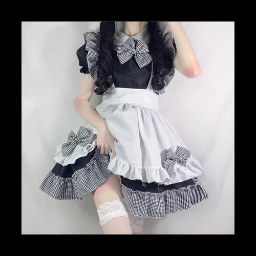 【お取り寄せ】ギンガムチェック メイド服