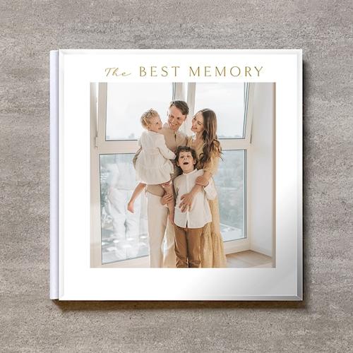 Square flame(白)-FAMILY_A4スクエア_6ページ/6カット_クラシックアルバム(アクリルカバー)