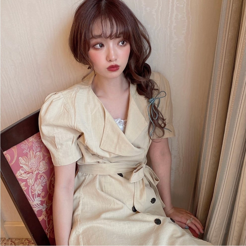 【SSC atelier】trench one-piece