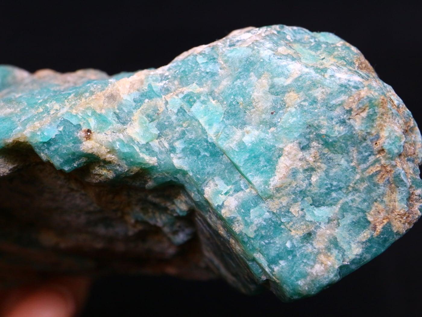 特大!アマゾナイト ブラジル産 原石 165,3g AZ0018 天河石(てんがせき)