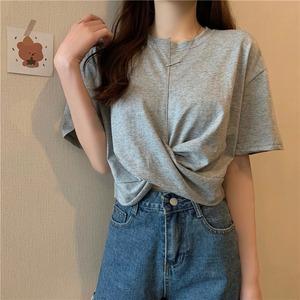 クロスデザインベーシック半袖Tシャツ S2680