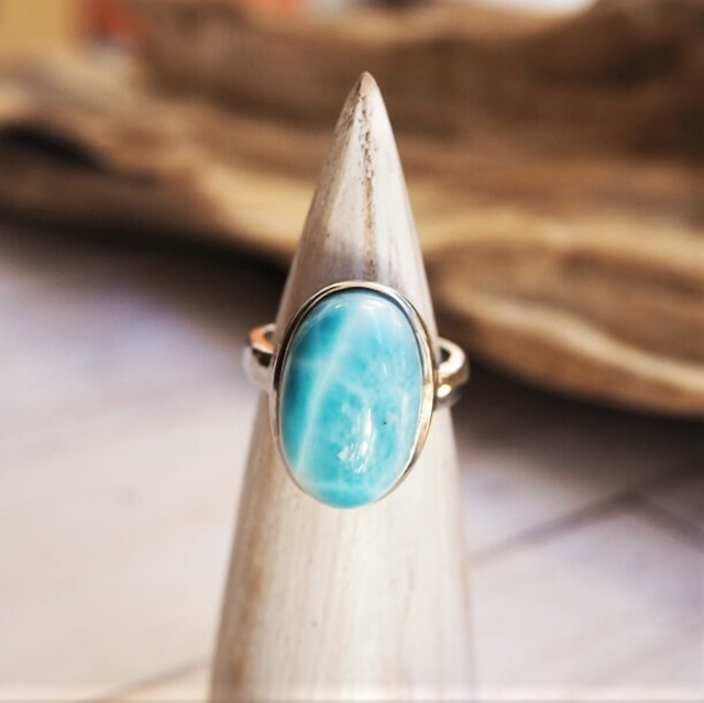 Larimar Ring 18388986-d【10号〜15号】