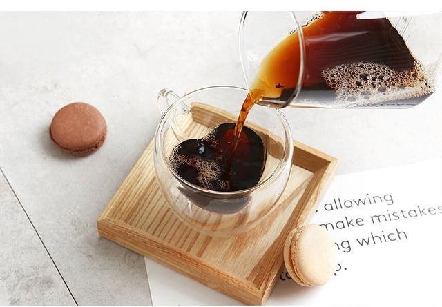 ハート型 耐熱二重グラス