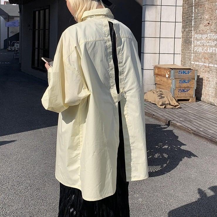 Split back lemon shirt(スプリットバックレモンシャツ)b-076