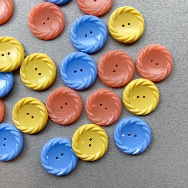 2穴縄模様縁フランスヴィンテージボタン