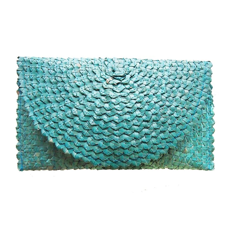 CHANTEK Palm Reaf Clutch BLUE