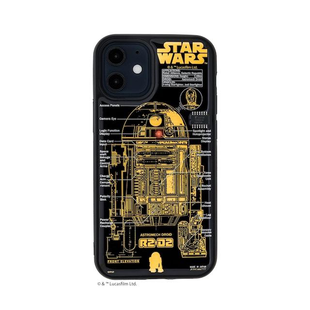 FLASH R2-D2 基板アート iPhone 12 miniケース 黒【東京回路線図A5クリアファイルをプレゼント】