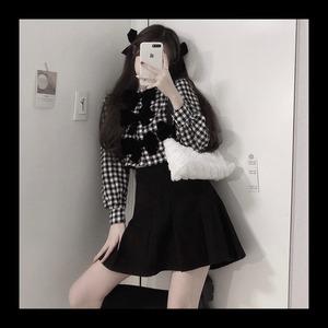 【お取り寄せ】3連リボン シャツ+スカートセット