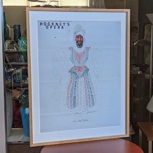 """Hockney's Opera 展 ポスター Baba the Turk from """"The Rake's Progress"""""""