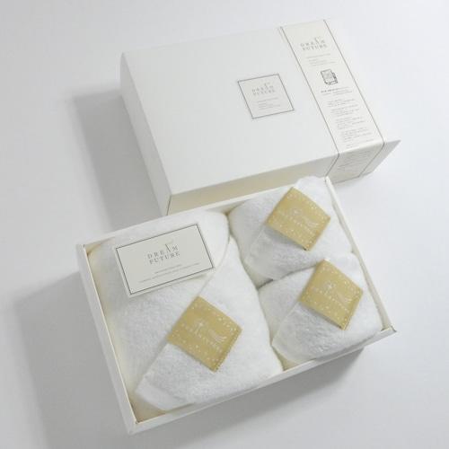 無撚糸(むねんし)高級Bath×Face Towel 3枚SET Star White(純白のやすらぎ)/  Star White(純白のやすらぎ)/  Star White(純白のやすらぎ)