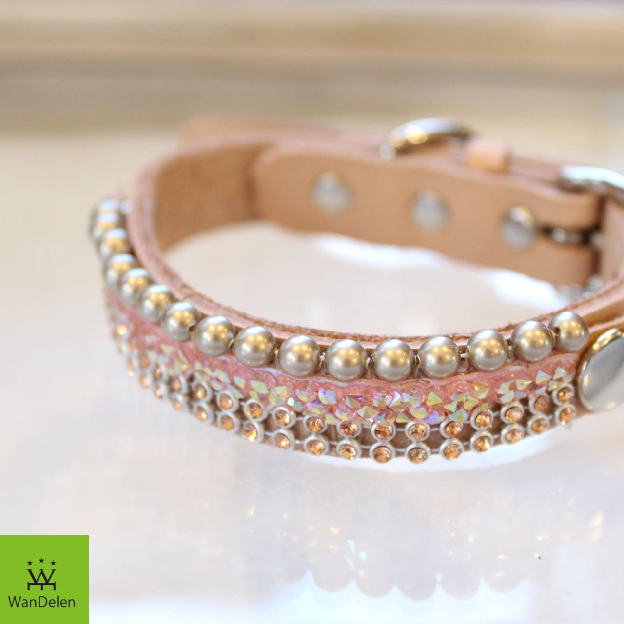 """ WanDelen"" Dog Necklace (combination pink)"