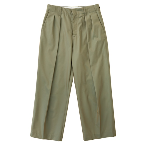 【WOMEN'S】GABARDINE DOUBLE TUCK PANTS / ギャバジンダブルタックパンツ(KHK)