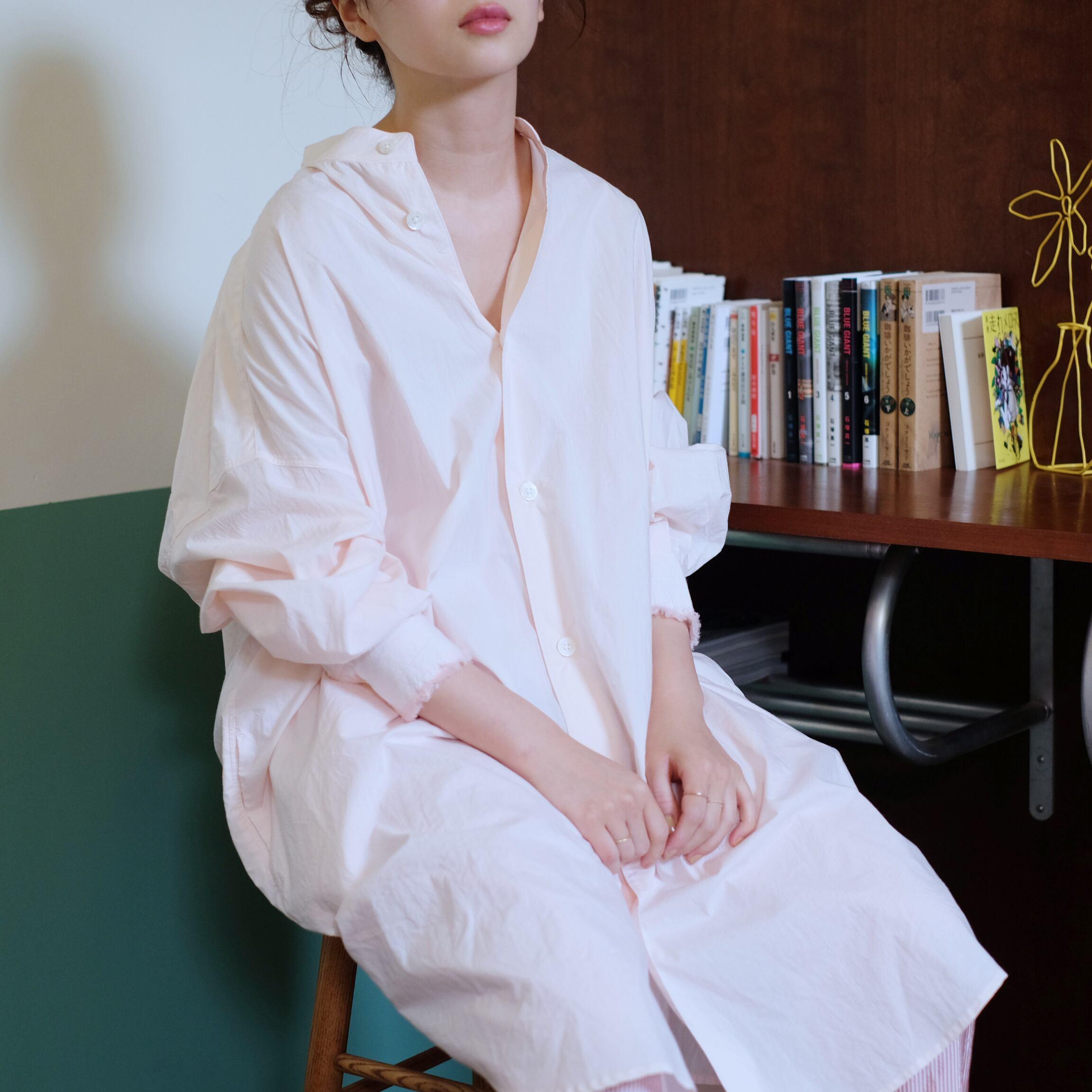 Big shirt  [ Pale Pink ]
