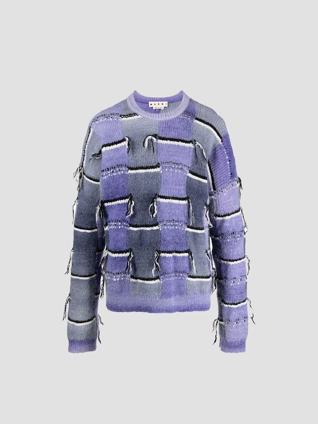 MARNI CREW NECK L/S SWEATER Ultra Violet GCMG0199Q0UFP402