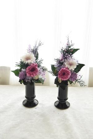 花筒なし期間限定仏花1対タイプ