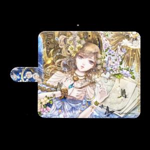 オリジナル手帳型Androidケース(M)【百年の窒素】 / yuki*Mami