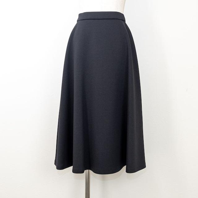 【QTUME/クチューム】ダンボールニットサーキュラースカート(ブラック)*再入荷