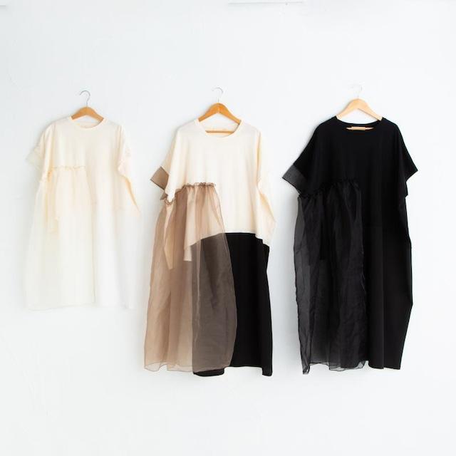 Last one brown/S!UJU オーガンジーロング丈トップス  black/brown Sサイズ