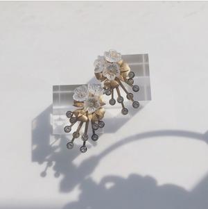 【展示】2way  ヴィンテージ  スワロフスキー  氷柱flower