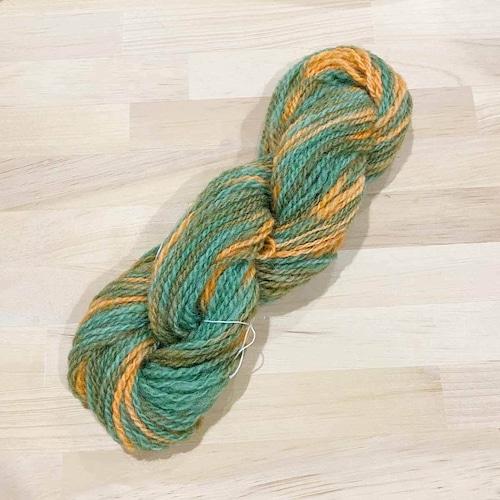 Kc3) チェビテク 柿色(手染め手紡ぎ毛糸)