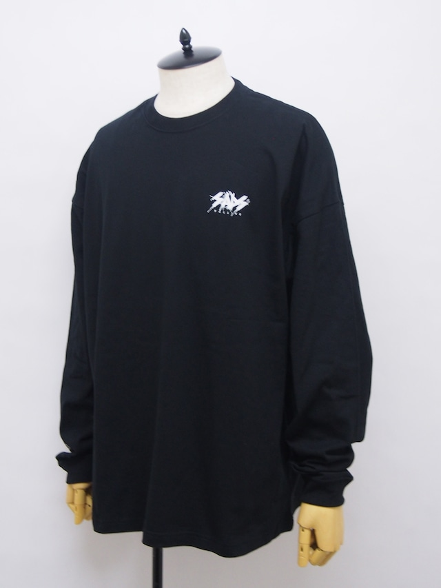 Moonage Devilment×sads GRAPHIC OVER L/S T-shirt type F / BLACK×WHITE mcs-0626-1