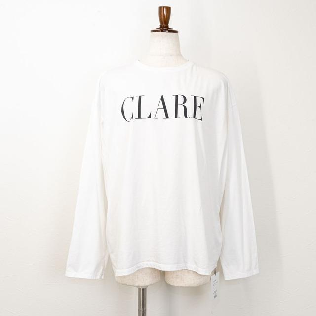 "【MICA&DEAL/マイカアンドディール】""CLARE""ロングスリーブTシャツ(ホワイト)"