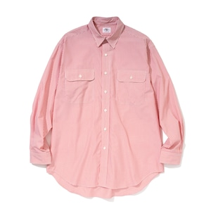 """Just Right """"Basic Stripe Shirt"""" Red"""