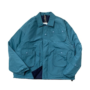 NOROLL / TWO FACE JACKET -SAX x NAVY-