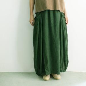 YARRA ヤラ サイドボリュームスカート YR-94-018  ダークグリーン