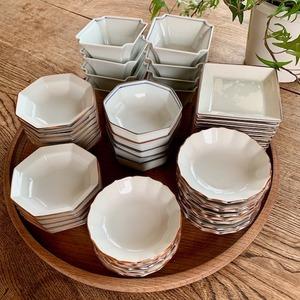 〈再入荷〉【006】九谷の白 小皿・小鉢各種 昭和 / Kutani White Small Plates & Bowls / Showa Era