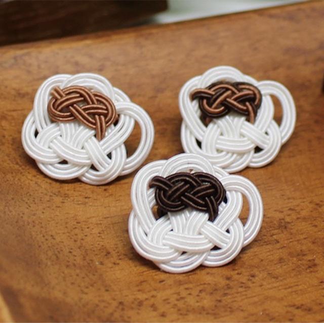 紙単衣オリジナル『水引コーヒーブローチ』手作りキット・濃茶